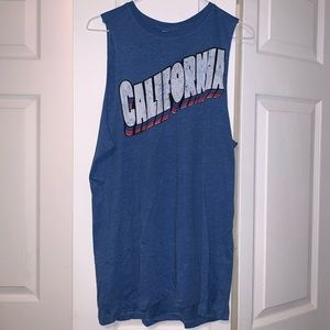 CALIFORNIA logo muscle tee